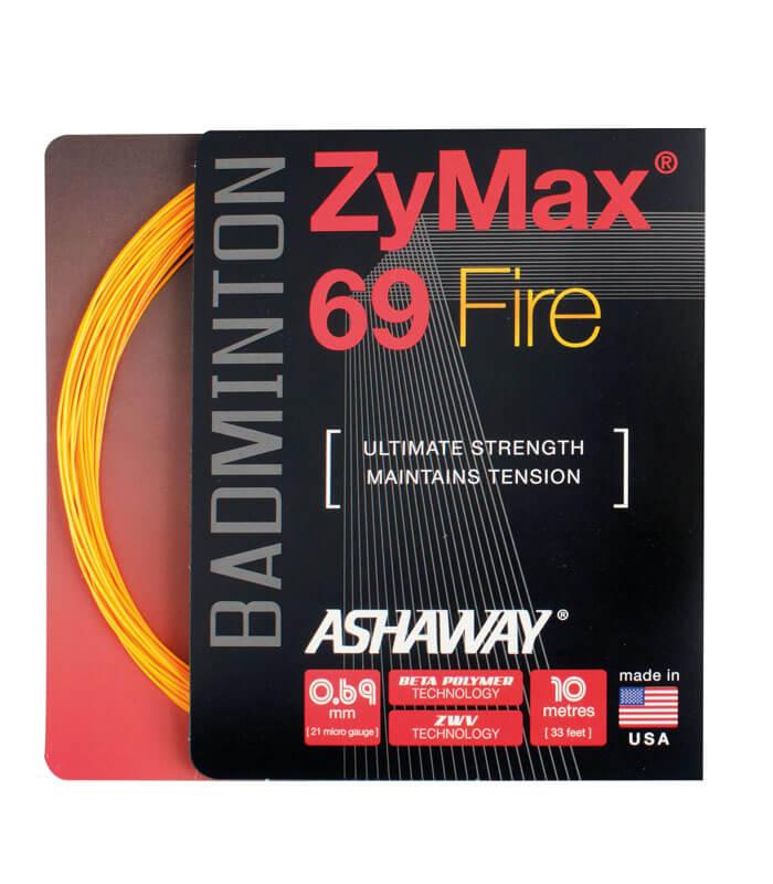 Πλέγμα Badminton ASHAWAY ZyMax® 69 Fire Πορτοκαλί