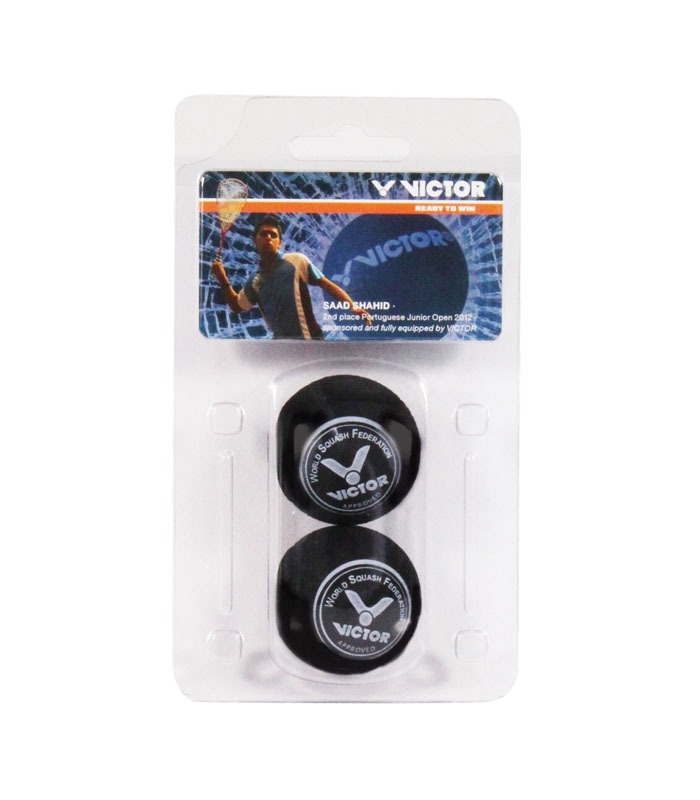 Squash Μπαλάκια VICTOR Blister 2x Double Yellow Dot