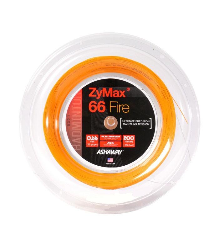 Πλέγμα Badminton ASHAWAY ZyMax® 66 Fire Power Πορτοκαλί