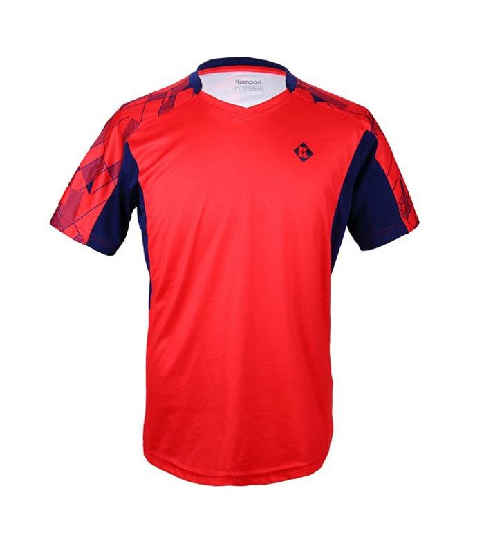 Αθλητικό Ανδρικό Μπλουζάκι Kumpoo KW-7101 Κόκκινο
