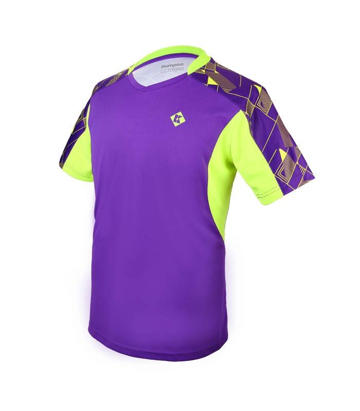 Αθλητικό Ανδρικό Μπλουζάκι Kumpoo KW-7101 Μωβ