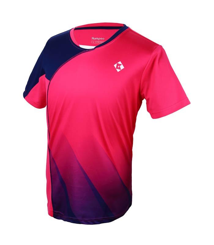 Αθλητικό Ανδρικό Μπλουζάκι Kumpoo KW-7102 Ροζ