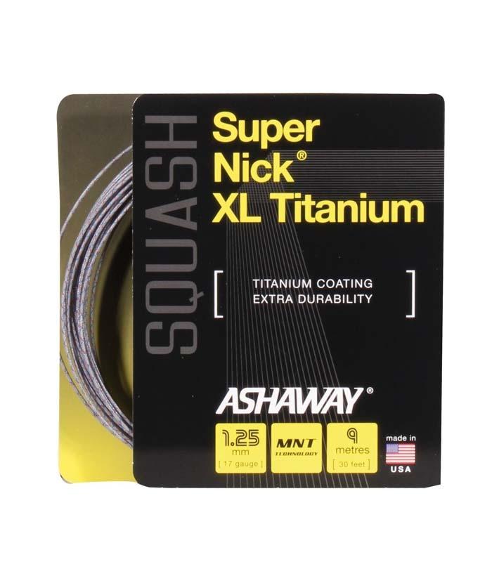 Πλέγμα Squash ASHAWAY SuperNick XL Titanium