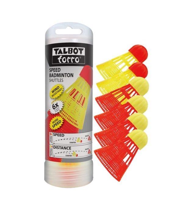 Talbot Torro Φτερά Speed Badminton x 6 pack