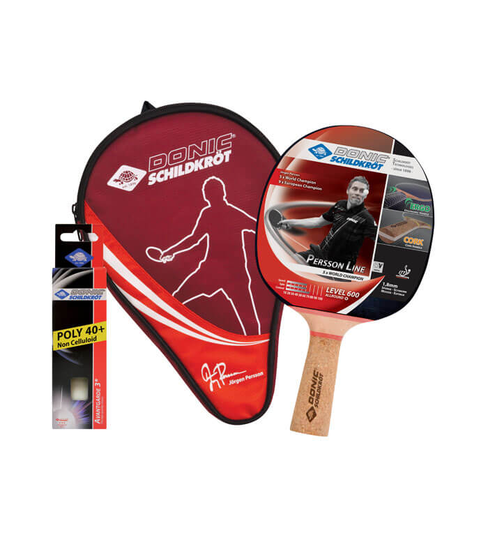 DONIC Σετ Ping Pong Ρακέτα/Μπαλάκια Persson Line 600