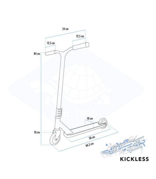 Stunt Scooter Δίτροχο Kickless 100mm SCHILDKROT Πράσινο