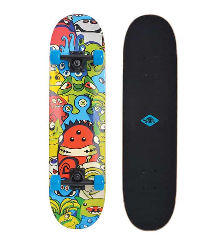 """Σανίδα Skateboard Πατίνι Slider 31"""" Monsters SCHILDKROT"""