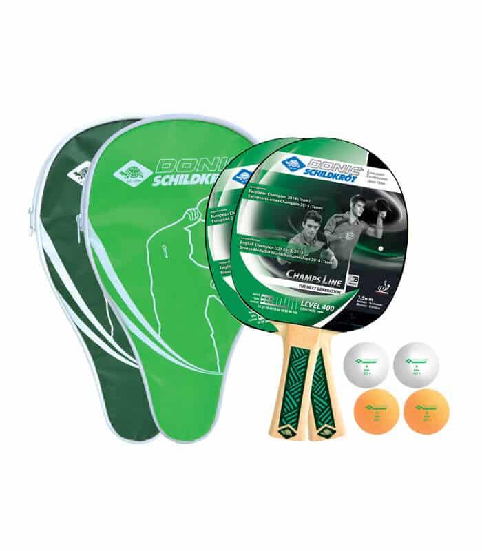 Σετ Ρακέτες/Μπαλάκια DONIC Ping Pong Champs Line Level 400