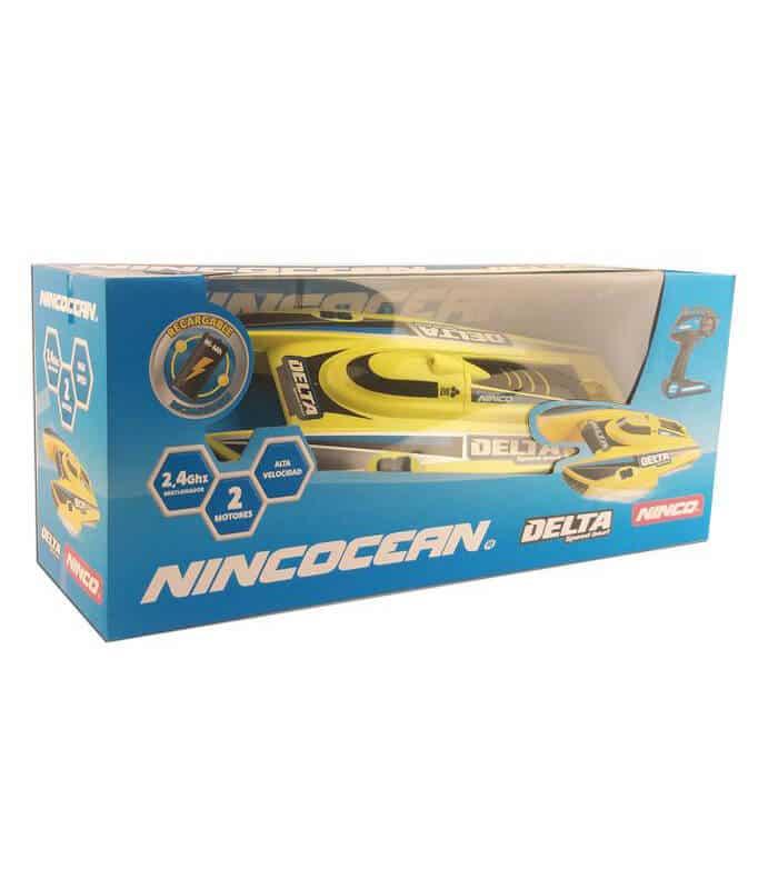 Τηλεκατευθυνόμενο Ταχύπλοο RC NINCO DELTA Κίτρινο