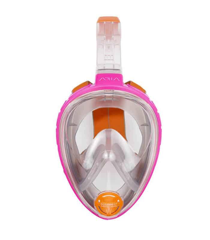 Μάσκα Θαλάσσης Fullface Ocean Reef Aria Ροζ