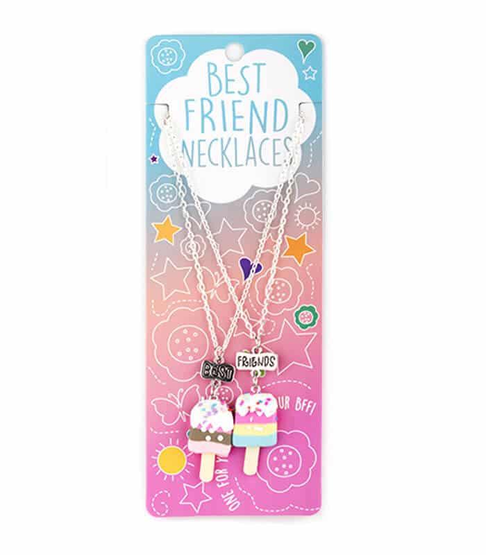 Κρεμαστό Διπλό Κολιέ Παγωτά Best Friends Necklaces