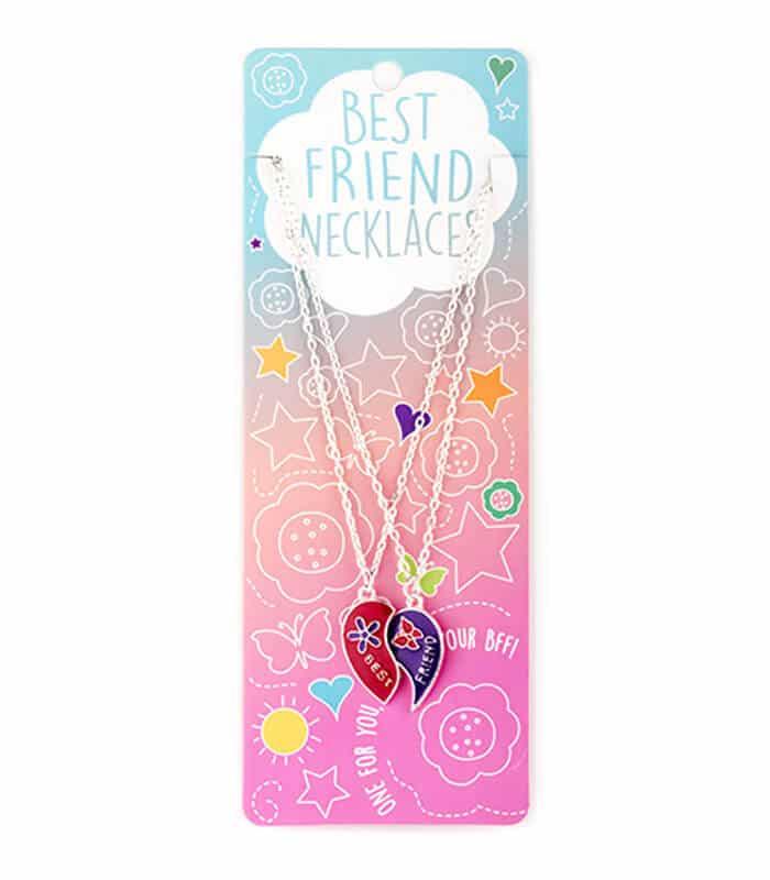 Κρεμαστό Διπλό Κολιέ Μισές Καρδιές Best Friends Necklaces
