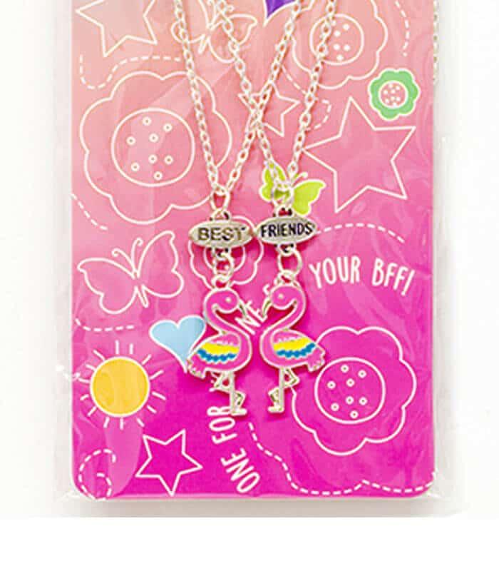 Κρεμαστό Διπλό Κολιέ Φλαμίνγκο Best Friends Necklaces