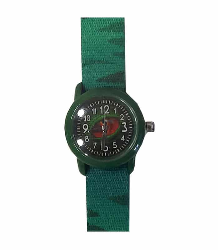 Ρολόι Χειρός Παιδικό Δεινόσαυρος Πράσινο