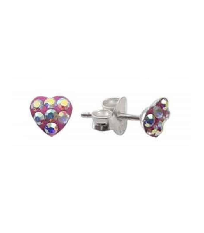 Σκουλαρίκια Παιδικά Από Ασήμι 925 Με Καρδιές
