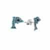 Σκουλαρίκια Παιδικά Ασημένια 925 Με Δελφίνια