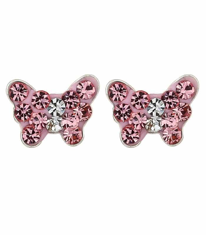 Σκουλαρίκια Από Ασήμι 925 Με Πεταλούδα