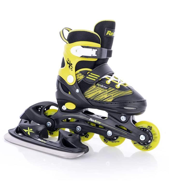 Rollers/Ice Skates 2 σε 1 Πατίνια ORIN DUO GIRLS Μαύρο/Κίτρινο