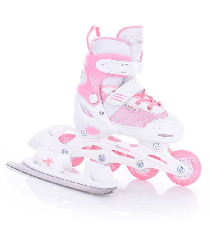 Rollers/Ice Skates 2 σε 1 Πατίνια ORIN DUO GIRLS Ρόζ/Άσπρο
