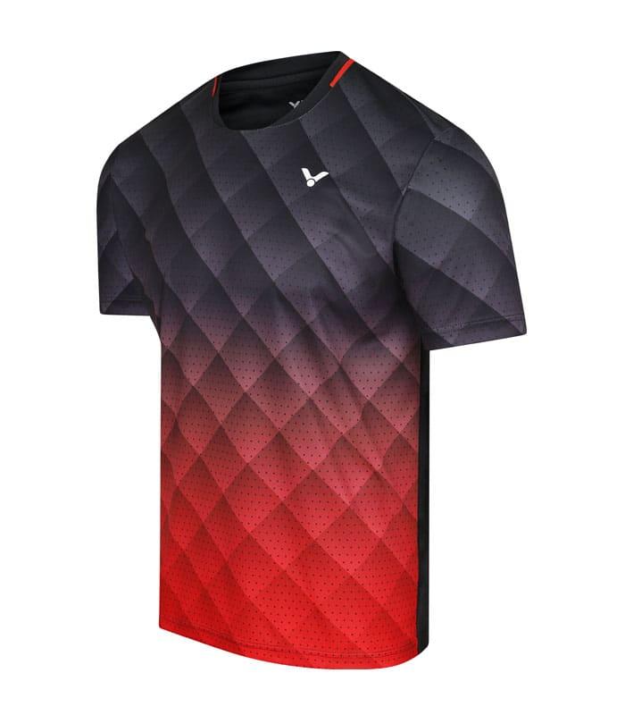 Αθλητικό Μπλουζάκι Unisex VICTOR Τ-13100 C Μαύρο/Κόκκινο
