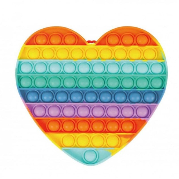 Pop it Big Bubble's fidget Rainbow Καρδιά